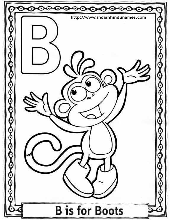 Cartoon alphabets coloring sheets · cartoon alphabets coloring sheets