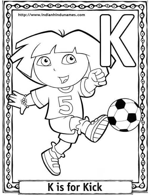 Pre K Coloring Pages Alphabet.  cartoon alphabets coloring sheets Cartoons pages Dora