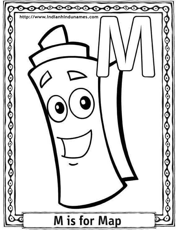 Cartoons alphabets coloring sheets coloring pages Dora coloring