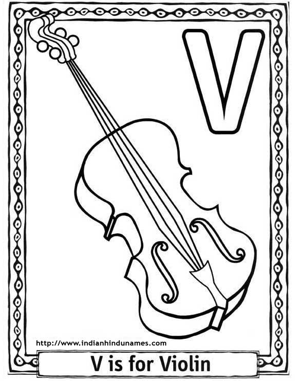 v coloring pages preschool - photo #36
