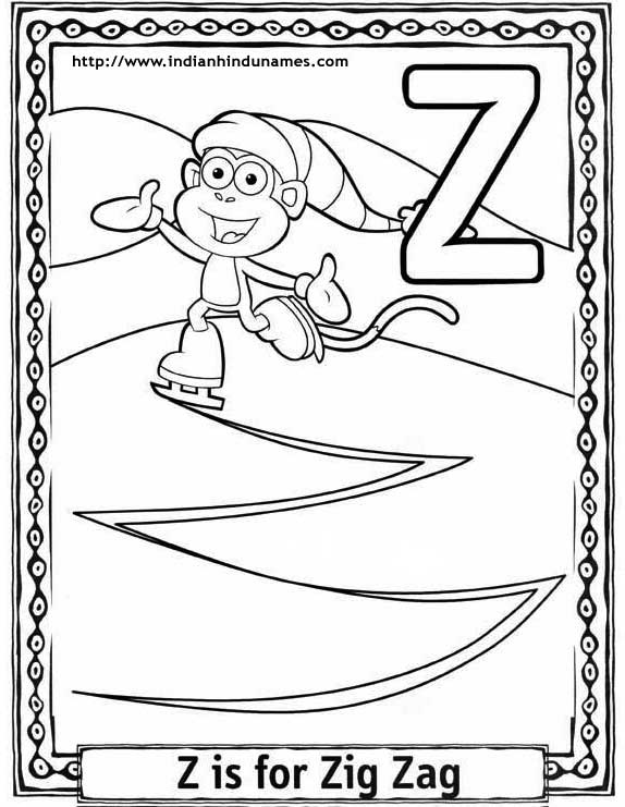 z word coloring pages - photo #50
